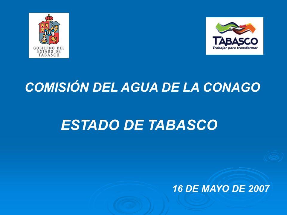 COMISIÓN DEL AGUA DE LA CONAGO ESTADO DE TABASCO 16 DE MAYO DE 2007