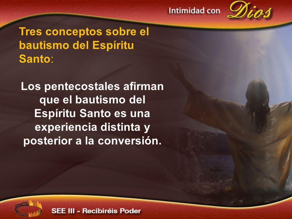 …En el acto del bautismo se unen tres elementos al mismo tiempo: -La parte de la iglesia: la incorporación en la comunidad de los creyentes, ingresando como miembro de la iglesia.