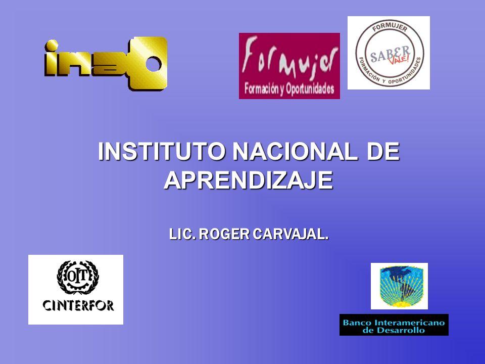INSTITUTO NACIONAL DE APRENDIZAJE LIC. ROGER CARVAJAL.
