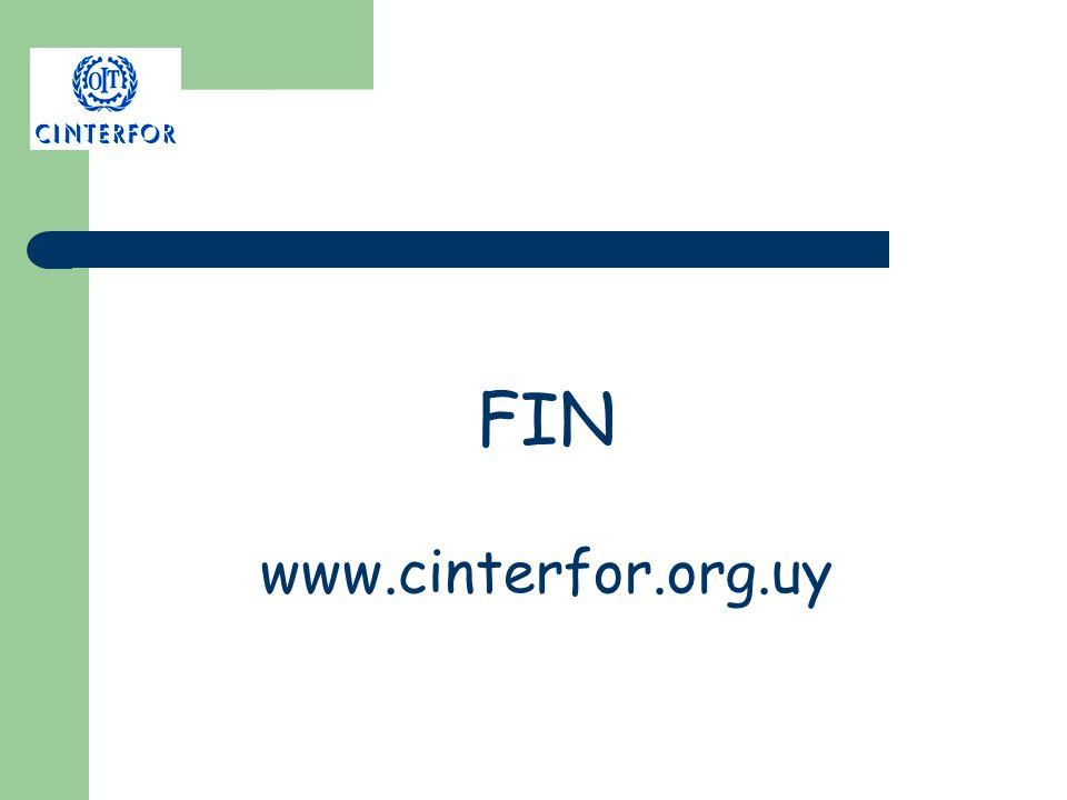 FIN www.cinterfor.org.uy
