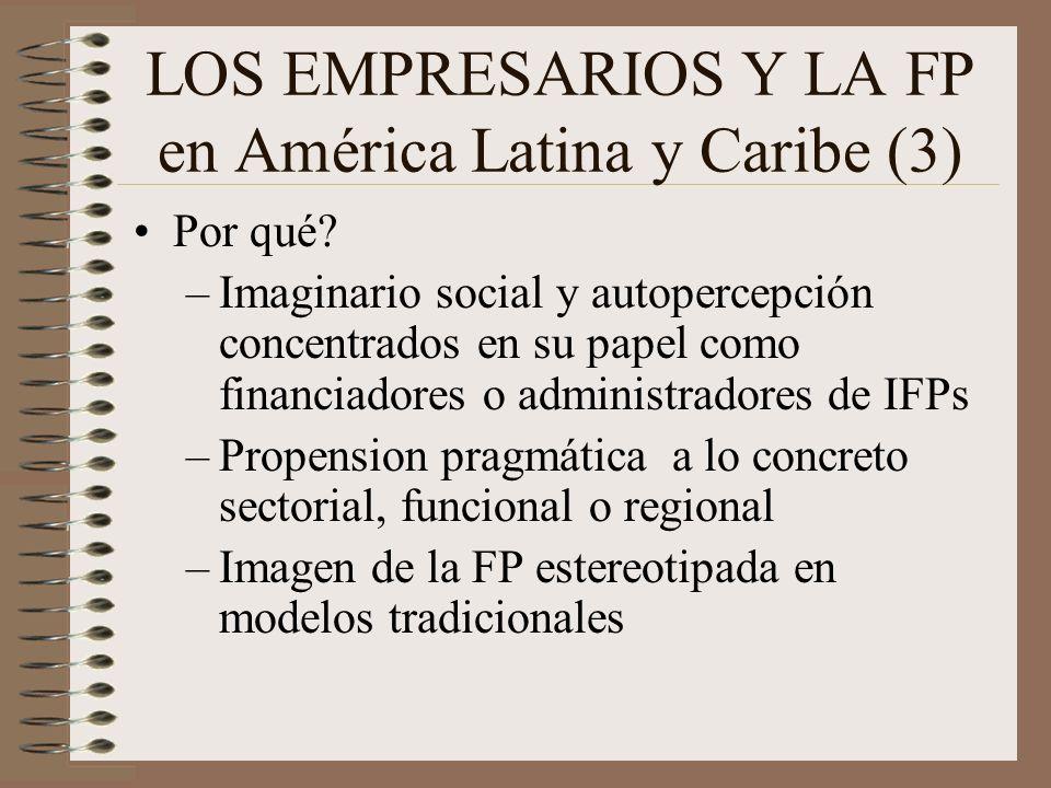 LOS EMPRESARIOS Y LA FP en América Latina y Caribe (3) Por qué.