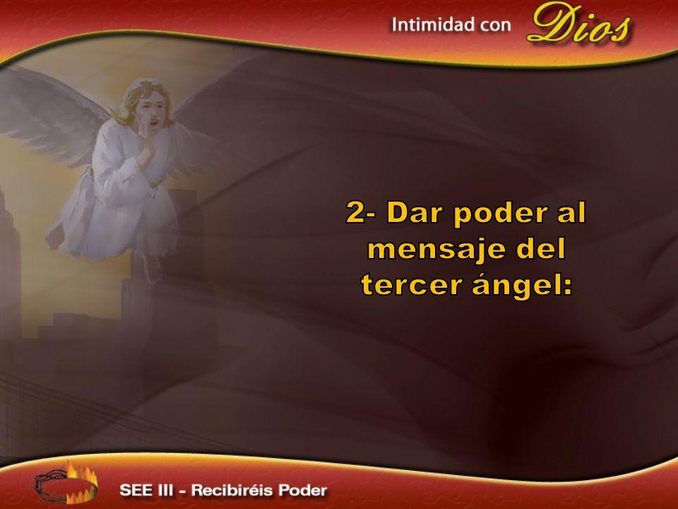 En ese tiempo, descenderá la lluvia tardía el refrigerio de la presencia del Señor para dar poder a la voz fuerte del tercer ángel.