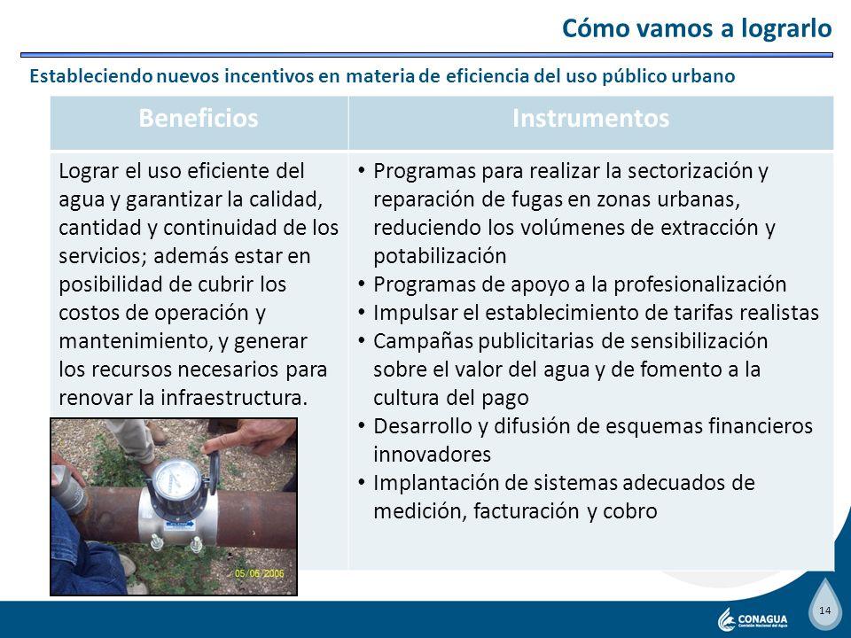 13 BeneficiosInstrumentos Reducir los daños en las poblaciones asentadas en zonas de alto riesgo de inundaciones, protegiendo su integridad física y s