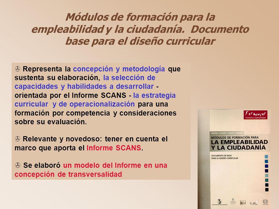 Módulos de formación para la empleabilidad y la ciudadanía.