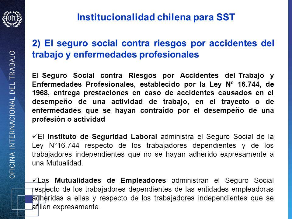 2) El seguro social contra riesgos por accidentes del trabajo y enfermedades profesionales El Seguro Social contra Riesgos por Accidentes del Trabajo