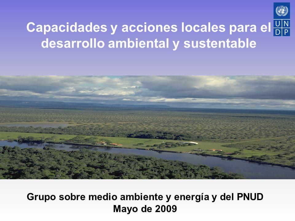 Capacidades y acciones locales para el desarrollo ambiental y sustentable Grupo sobre medio ambiente y energía y del PNUD Mayo de 2009