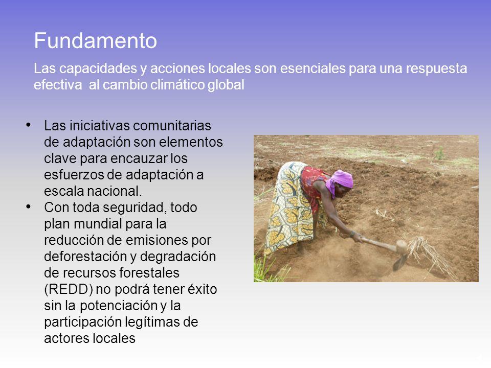 4 Las iniciativas comunitarias de adaptación son elementos clave para encauzar los esfuerzos de adaptación a escala nacional. Con toda seguridad, todo