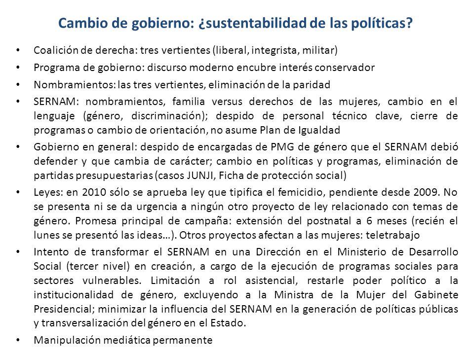 Cambio de gobierno: ¿sustentabilidad de las políticas.