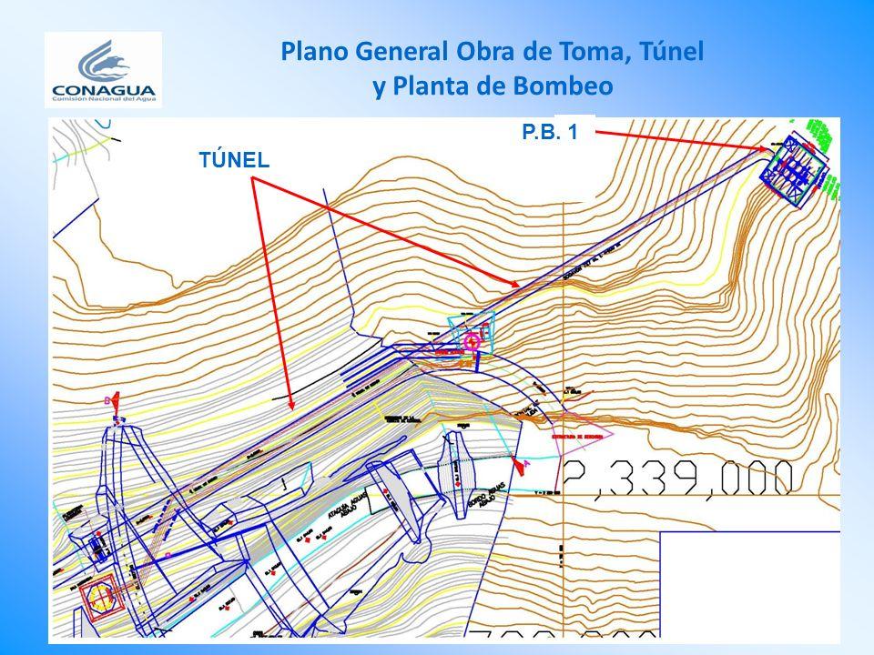Plano General Obra de Toma, Túnel y Planta de Bombeo LLlLLl P.B. 1 TÚNEL