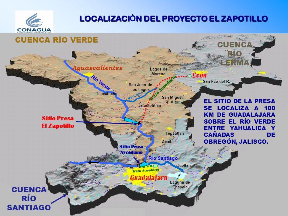 Descripción del Proyecto El acueducto consiste en una línea de conducción con una longitud de 138.5 km, integrada por un tramo a bombeo de 4.5 km de 84 de diámetro y otro a gravedad de 134 km, de los cuales 94 km son de 100, 30 km de 92 y 10 km de 84 de diámetro.