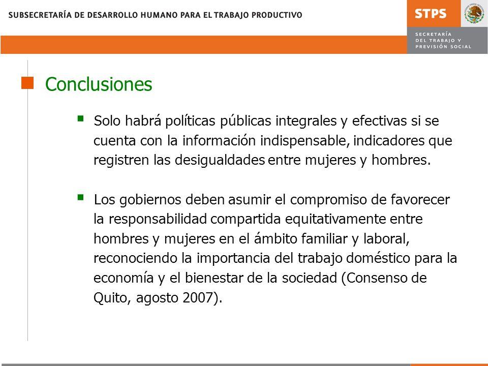 Solo habrá políticas públicas integrales y efectivas si se cuenta con la información indispensable, indicadores que registren las desigualdades entre