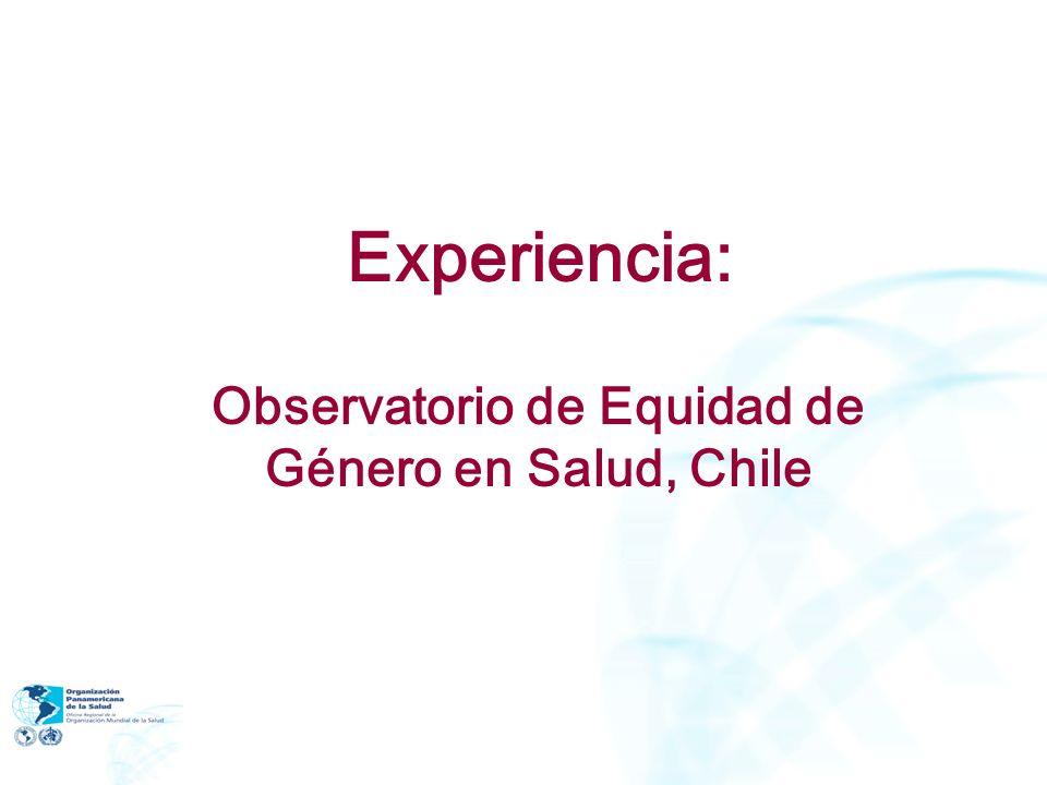 Experiencia: Observatorio de Equidad de Género en Salud, Chile