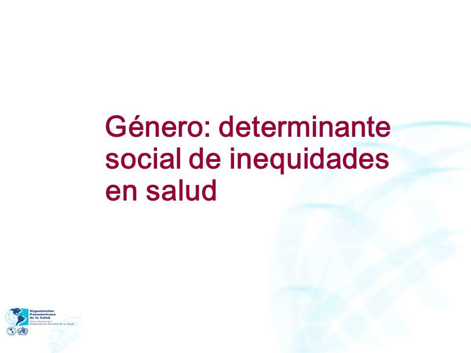 ABG en el ámbito de la salud (cont.): Facilita la formulación de políticas y monitoreo del avance hacia una mayor equidad Permite analizar los impactos de políticas y programas en M y H en las diferentes etapas del ciclo de vida