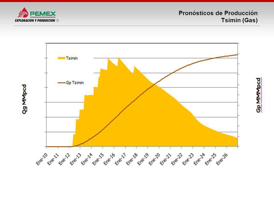 Pronósticos de Producción Tsimin (Gas)