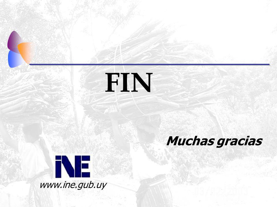 FIN Muchas gracias www.ine.gub.uy