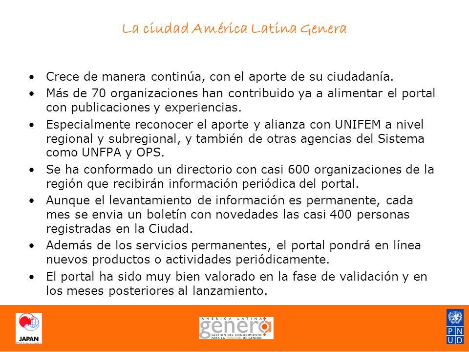 La ciudad América Latina Genera Crece de manera continúa, con el aporte de su ciudadanía.