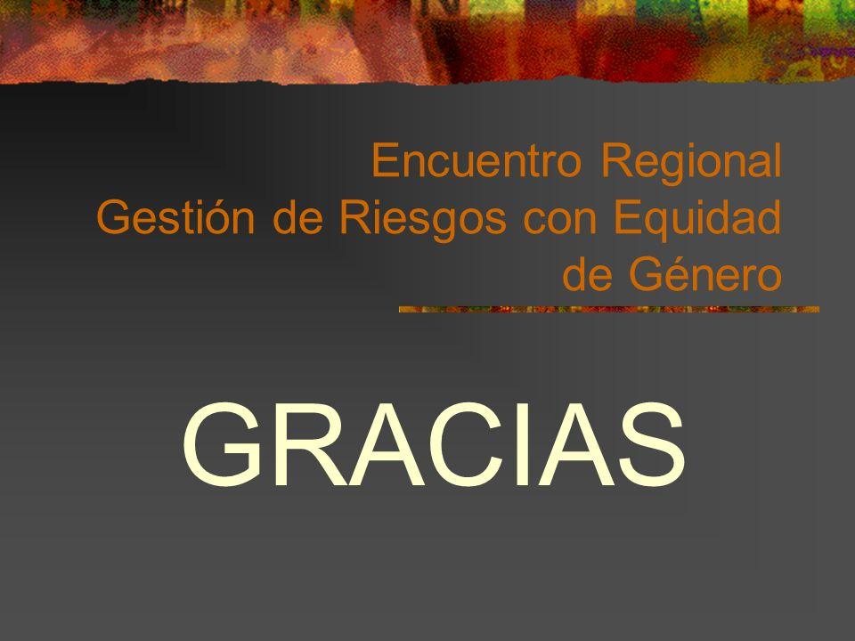 Encuentro Regional Gestión de Riesgos con Equidad de Género GRACIAS