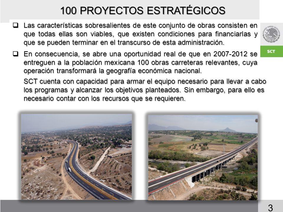 FUENTES DE FINANCIAMIENTO Los esquemas de financiamiento a través de los cuales se generarán las inversiones a realizar en los 100 proyectos estratégicos son: 4 Presupuesto de Egresos de la Federación.