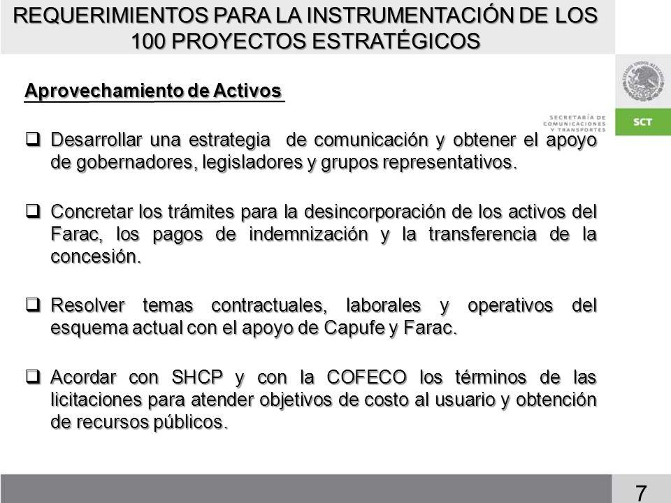 PROYECTOS DEL PROGRAMA CARRETERO 2007-2012 POR SUBPROGRAMA 8