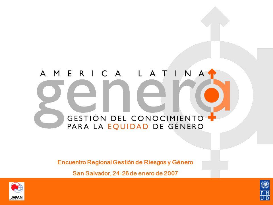América Latina Genera: en un vistazo OBJETIVO: Contribuir al fortalecimiento de las capacidades de los países participantes en el proyecto -especial énfasis en o.g- para la formulación de planes, políticas, programas y proyectos sensibles al género.