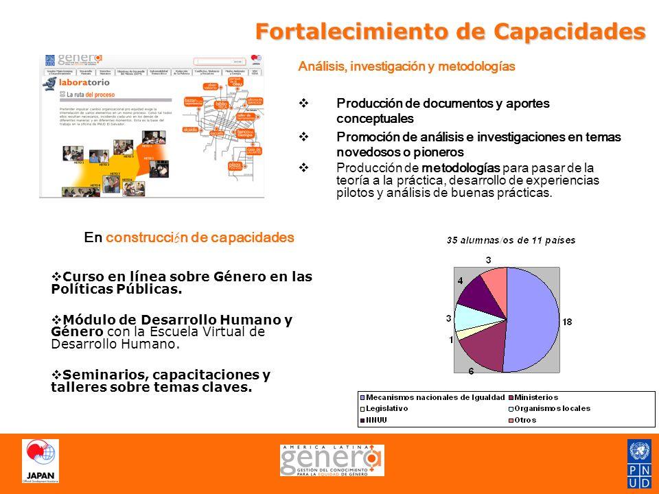 Acompañamiento Técnico 1.Acompañamiento técnico integral (presencial y virtual) 2.Asesorías puntuales virtuales (a través del portal) 3.Generación de róster de especialistas latinoamericanos certificados en género y las principales áreas de práctica de PNUD.