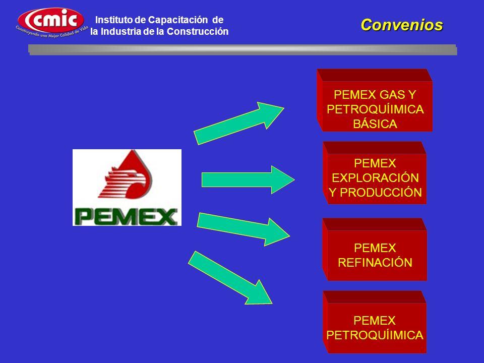 PEMEX EXPLORACIÓN Y PRODUCCIÓN PEMEX GAS Y PETROQUÍIMICA BÁSICA PEMEX REFINACIÓN PEMEX PETROQUÍIMICA Convenios