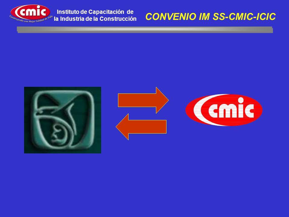 Instituto de Capacitación de la Industria de la Construcción CONVENIO IM SS-CMIC-ICIC