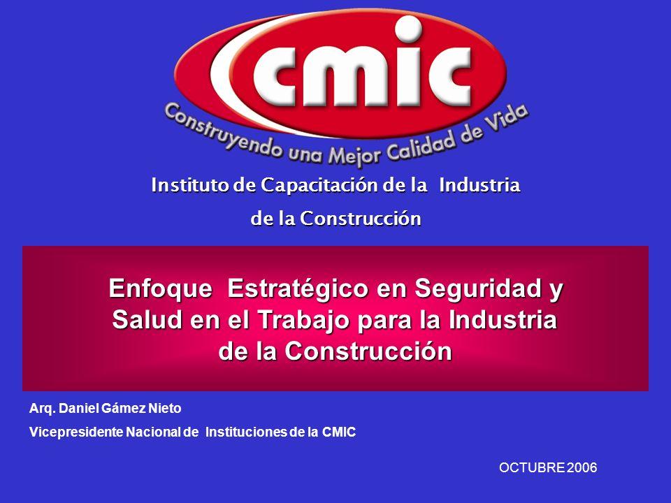 Instituto de Capacitación de la Industria de la Construcción Enfoque Estratégico en Seguridad y Salud en el Trabajo para la Industria Salud en el Trab