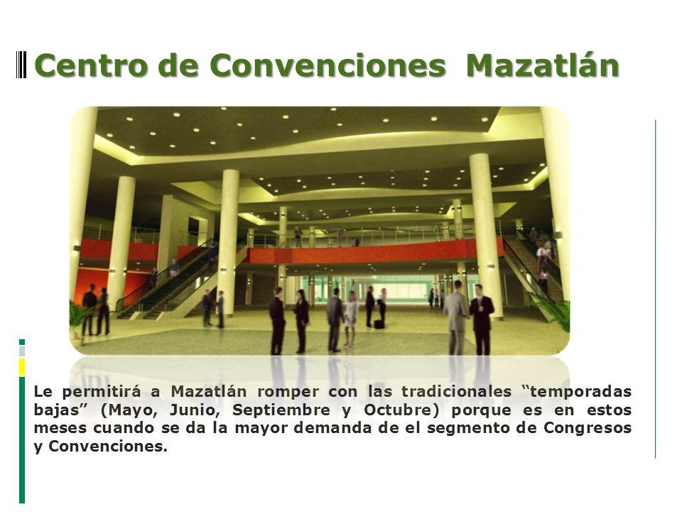 Centro de Convenciones Mazatlán Le permitirá a Mazatlán romper con las tradicionales temporadas bajas (Mayo, Junio, Septiembre y Octubre) porque es en