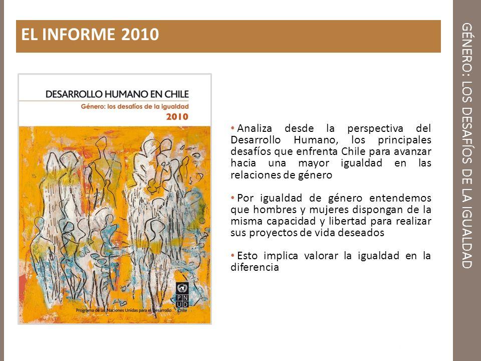 GÉNERO: LOS DESAFÍOS DE LA IGUALDAD Más allá de los avances los chilenos y chilenas aún observan un grado importante de desigualdad de género Fuente: Encuesta Nacional Desarrollo Humano 2009