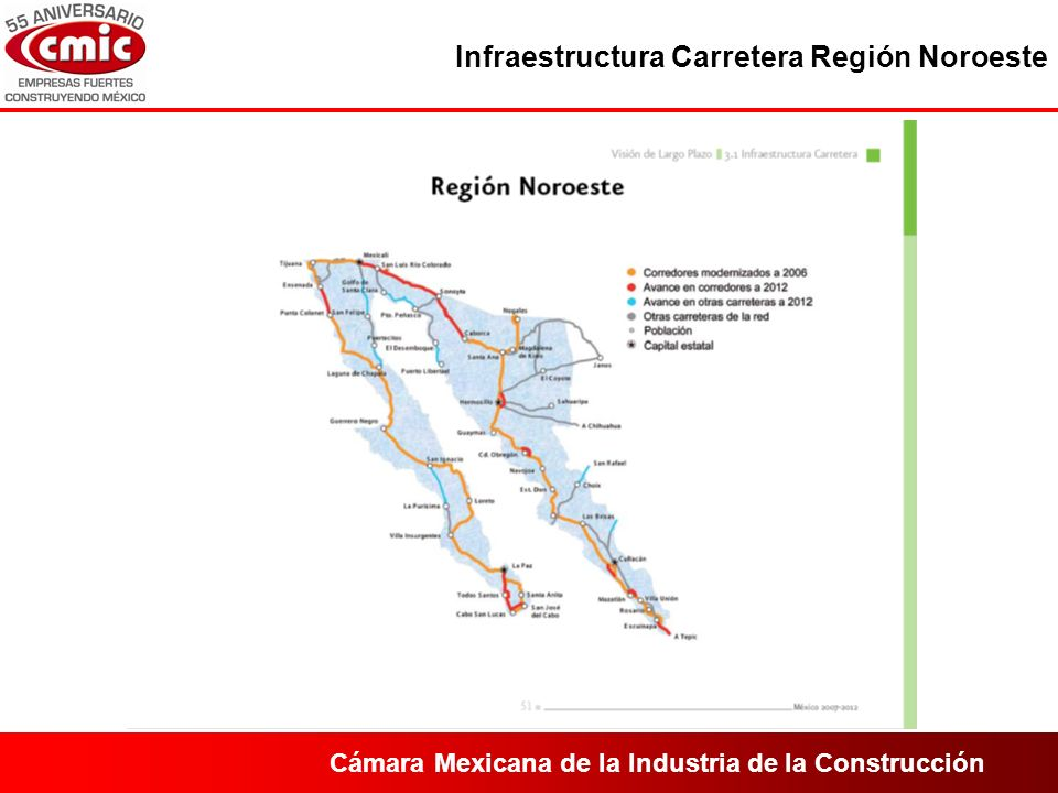 Cámara Mexicana de la Industria de la Construcción Infraestructura Carretera Región Noroeste