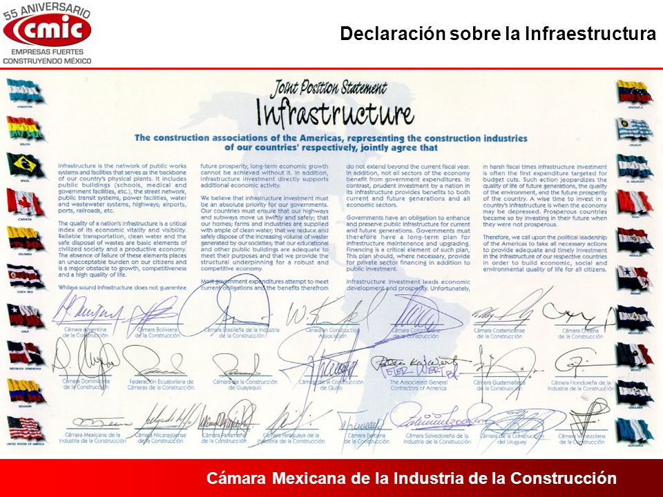 Cámara Mexicana de la Industria de la Construcción Corredores Troncales