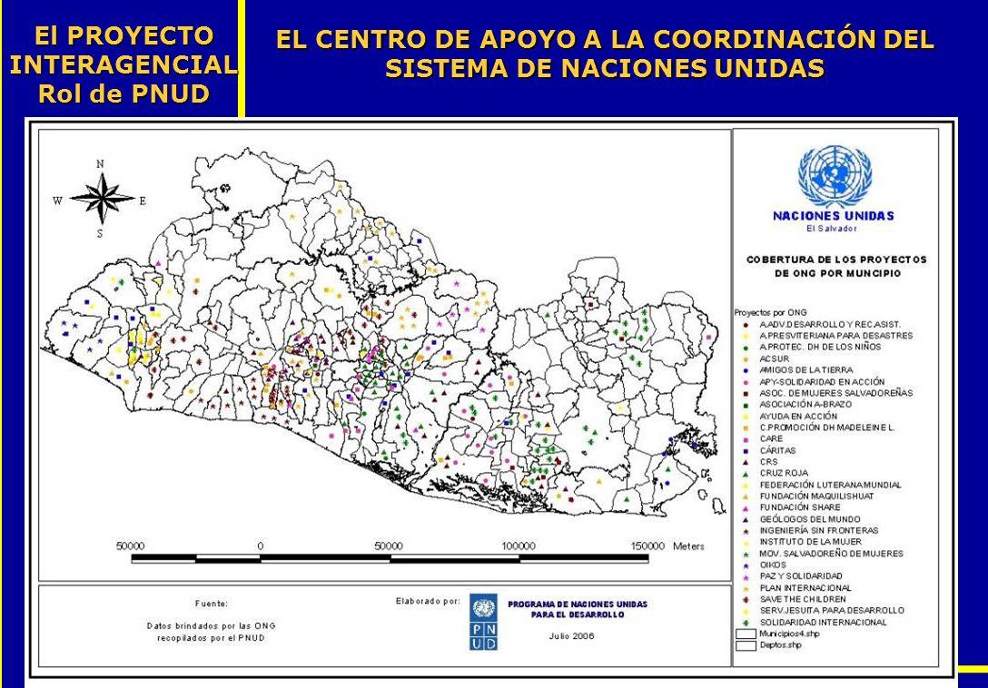 EL CENTRO DE APOYO A LA COORDINACIÓN DEL SISTEMA DE NACIONES UNIDAS El PROYECTO INTERAGENCIAL Rol de PNUD