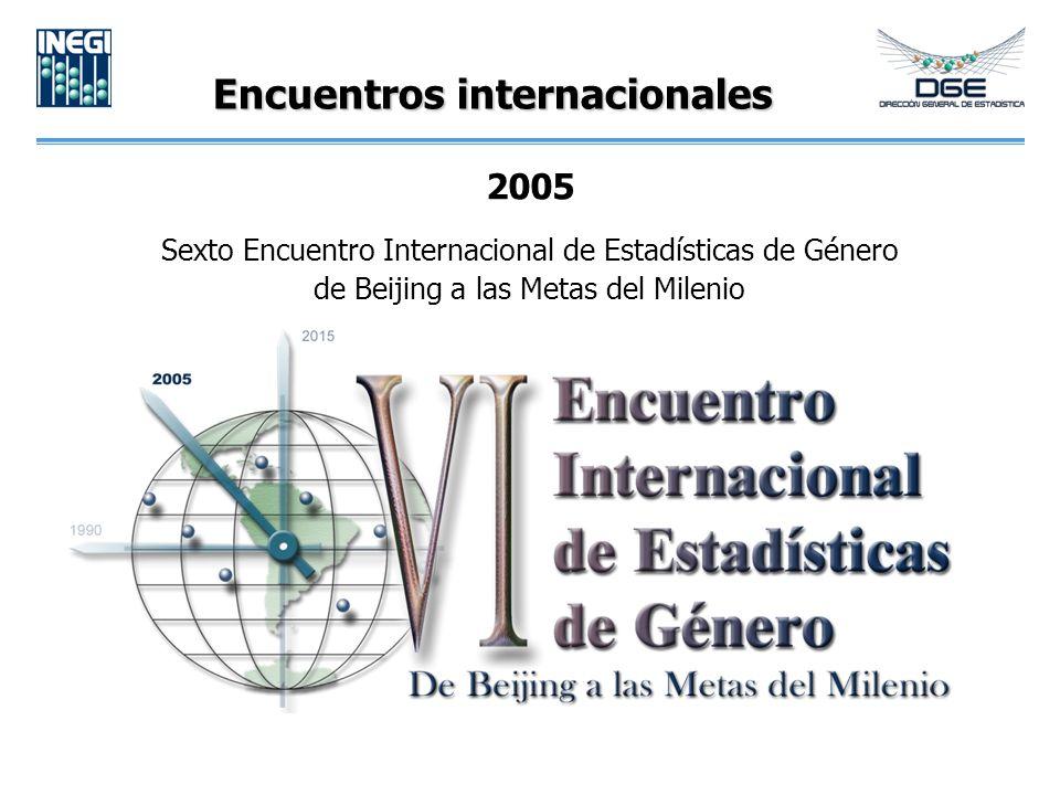 Encuentros internacionales 2005 Sexto Encuentro Internacional de Estadísticas de Género de Beijing a las Metas del Milenio