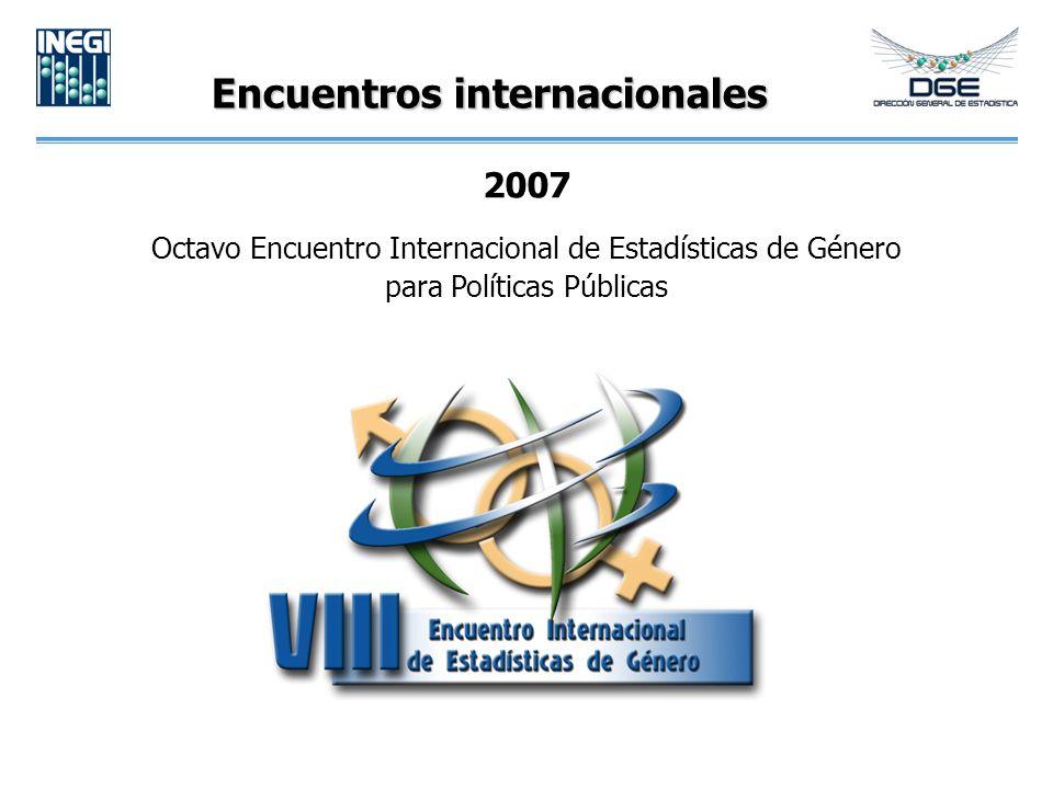 Encuentros internacionales 2007 Octavo Encuentro Internacional de Estadísticas de Género para Políticas Públicas