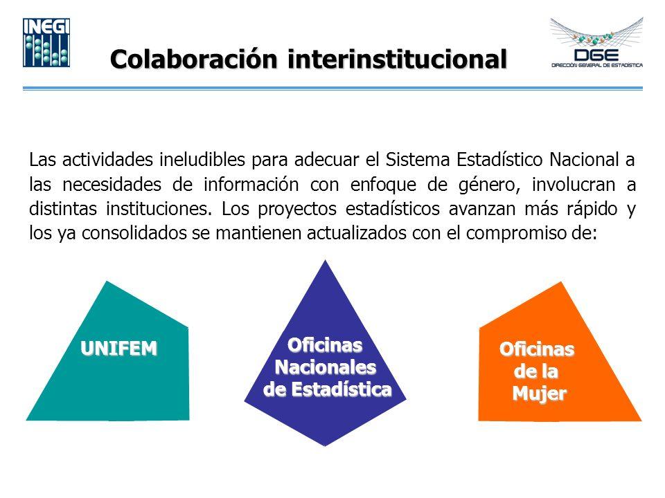 Colaboración interinstitucional Las actividades ineludibles para adecuar el Sistema Estadístico Nacional a las necesidades de información con enfoque