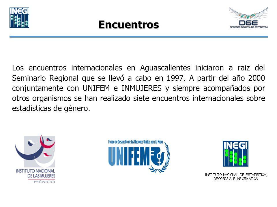 Encuentros Los encuentros internacionales en Aguascalientes iniciaron a raiz del Seminario Regional que se llevó a cabo en 1997. A partir del año 2000