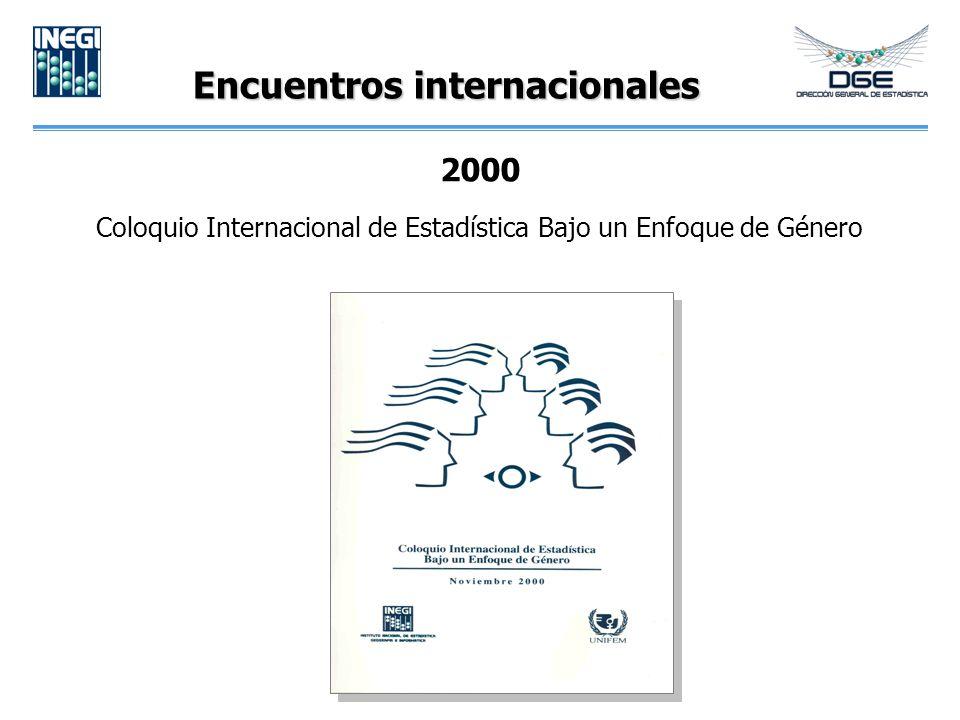 Encuentros internacionales 2000 Coloquio Internacional de Estadística Bajo un Enfoque de Género