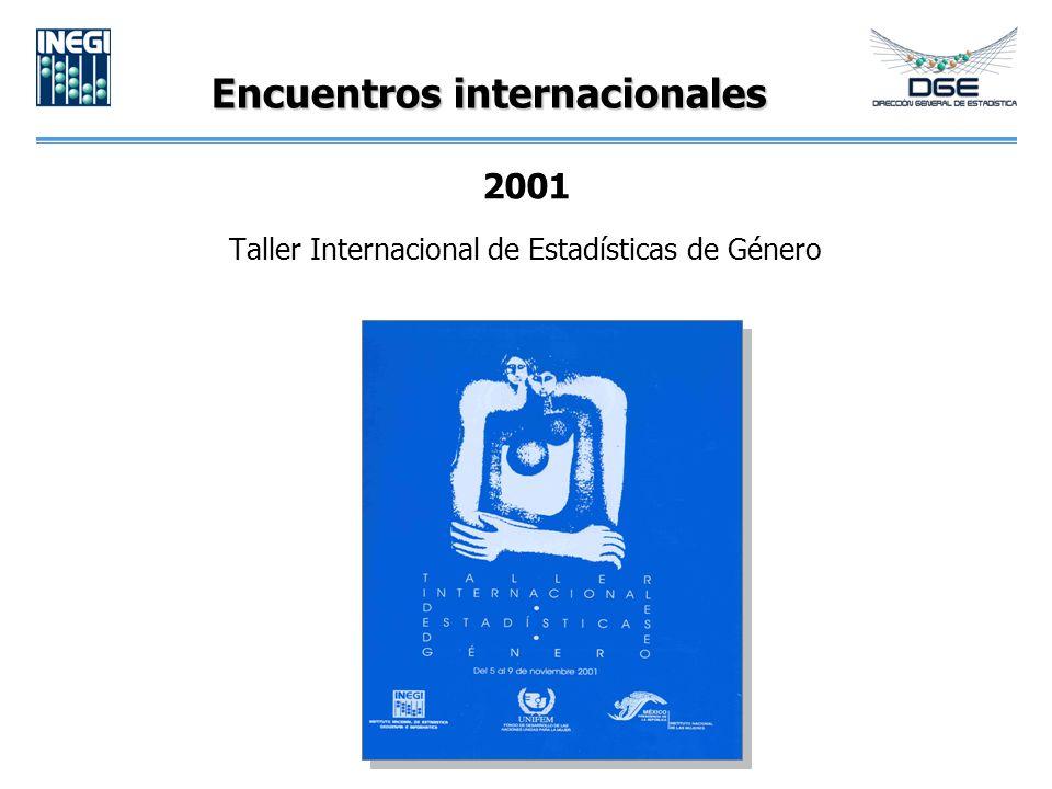 Encuentros internacionales 2001 Taller Internacional de Estadísticas de Género