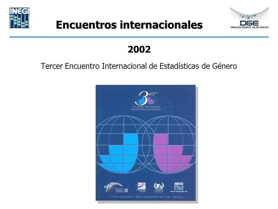 Encuentros internacionales 2002 Tercer Encuentro Internacional de Estadísticas de Género