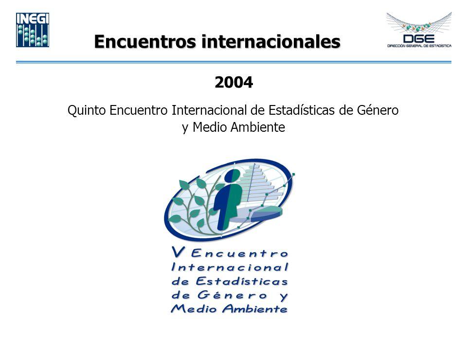 Encuentros internacionales 2004 Quinto Encuentro Internacional de Estadísticas de Género y Medio Ambiente