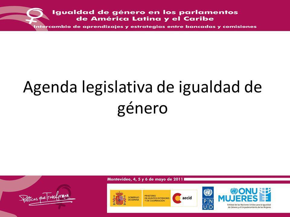 Agenda legislativa de igualdad de género