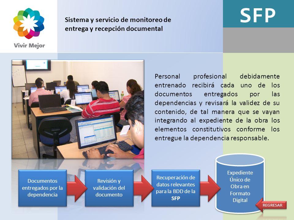 SFP Expediente Único de Obra en Formato Digital Expediente Único de Obra en Formato Digital Sistema y servicio de monitoreo de entrega y recepción doc