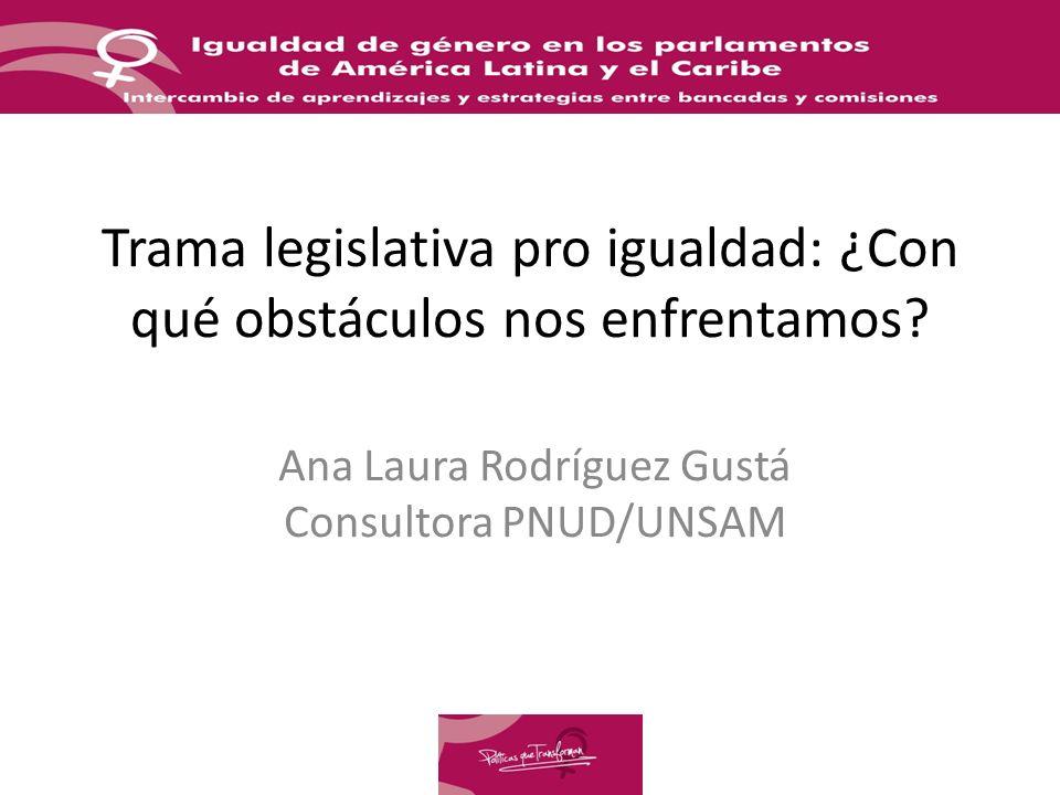 Trama legislativa pro igualdad: ¿Con qué obstáculos nos enfrentamos.