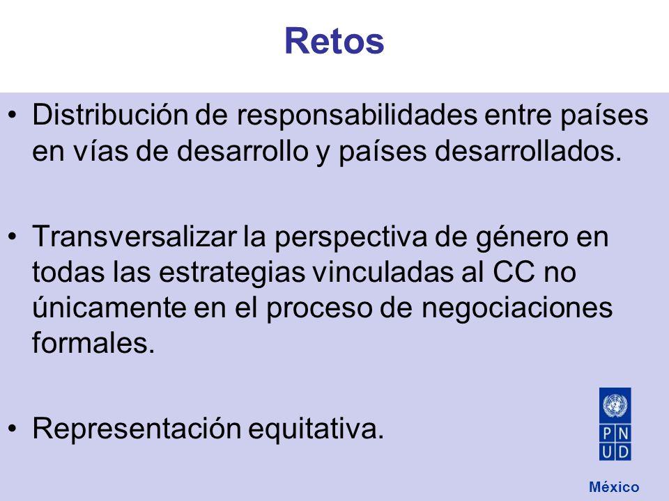 Distribución de responsabilidades entre países en vías de desarrollo y países desarrollados.