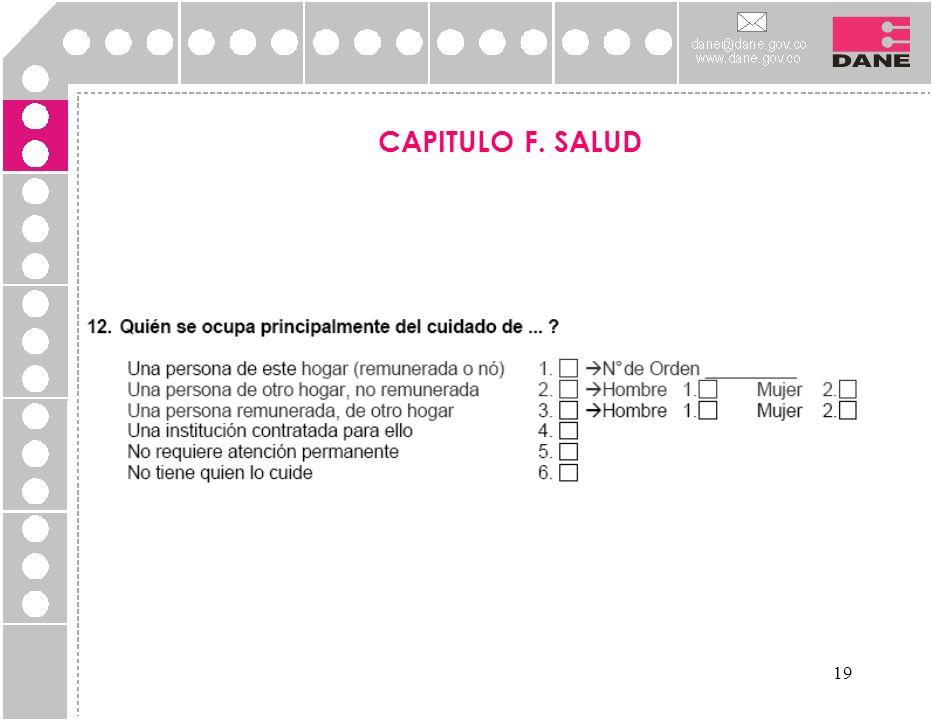 19 CAPITULO F. SALUD
