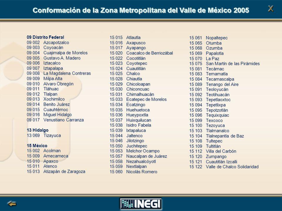 09 Distrito Federal 09 002 Azcapotzalco 09 003 Coyoacán 09 004 Cuajimalpa de Morelos 09 005 Gustavo A.