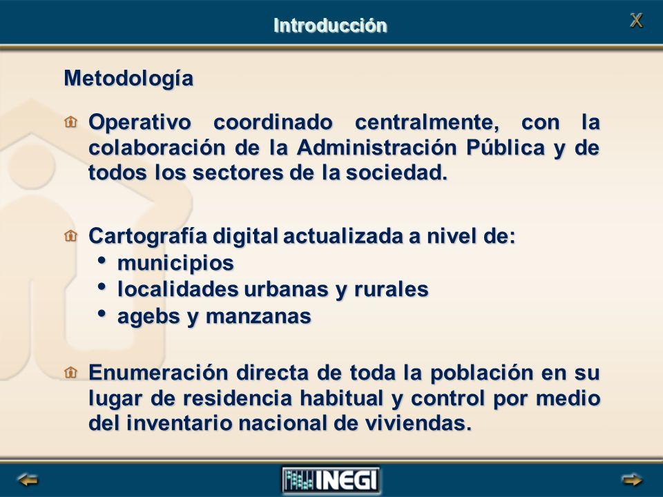 Metodología Operativo coordinado centralmente, con la colaboración de la Administración Pública y de todos los sectores de la sociedad.