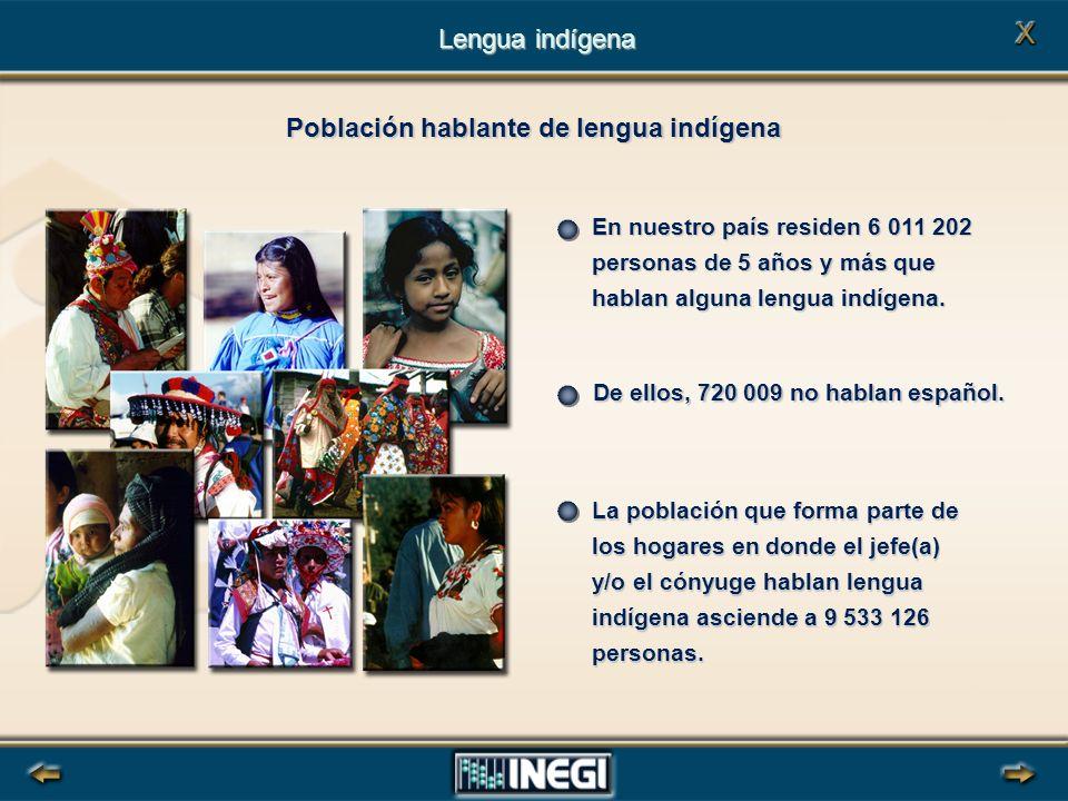 En nuestro país residen 6 011 202 personas de 5 años y más que hablan alguna lengua indígena.