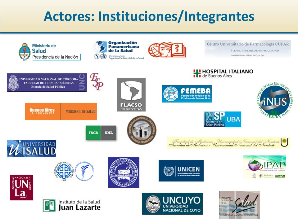 Actores: Instituciones/Integrantes